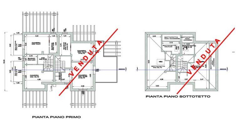 PIANTE PIANO PRIMO E SOTTOTETTO-001
